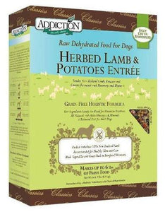Addiction Grain Free Herb Lamb & Potatoes Raw Dehydrated Dog Food (2 Sizes)