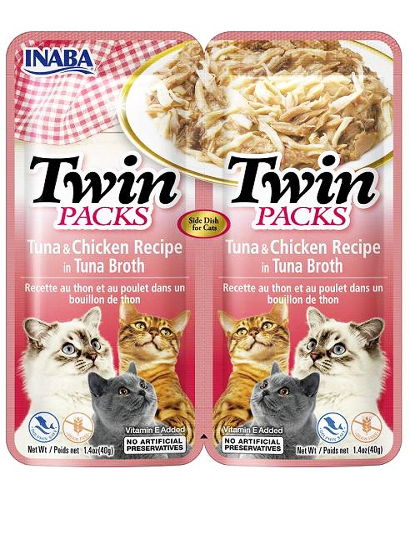 Inaba Cat Twin Packs Tuna & Chicken Recipe in Tuna Broth Cat Wet Food 80g| Waggymeal Online Pet Store Malaysia