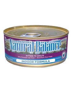 Natural Balance Indoor Cat Formula Cat Wet Food 170g (6oz)
