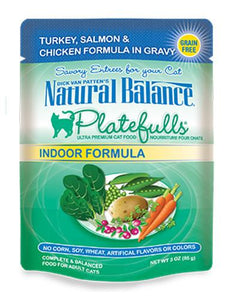 Natural Balance Indoor Formula Turkey & Salmon Formula in Gravy Cat Pouches 85g (3oz.)