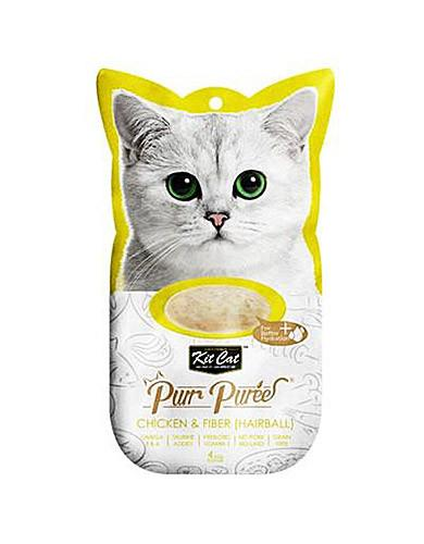 Kit Cat Purr Puree Chicken & Fiber Cat Treat | Waggymeal Online Pet Store Malaysia