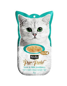 Kit Cat Purr Puree Tuna & Fiber Cat Treat
