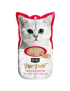 Kit Cat Purr Puree Tuna & Smoked Fish Cat Treat