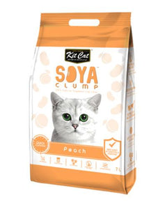 Kit Cat Soya Clump Peach Cat Litter 7L