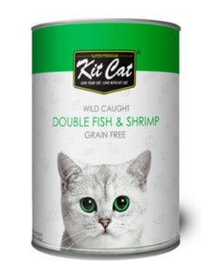 Kit Cat Super Premium Wild Caught Double Fish and Shrimp Grain Free 400g