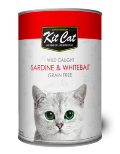 Kit Cat Super Premium Wild Caught Sardine and Whitebait Grain Free 400g