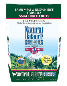 Natural Balance Lamb & Brown Rice Formula Small Bites Dog Dry Food (2 Sizes)