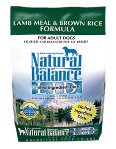 Natural Balance Lamb & Brown Rice Formula Dog Dry Food (3 Sizes)