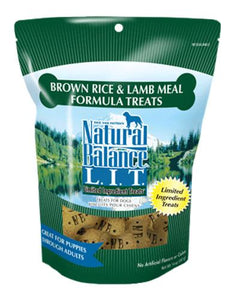 Natural Balance Lamb & Brown Rice Small Bite Dog Treats 227g (8oz.)