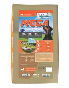 Addiction Mega Dry Dog Food 44lbs (20kg)