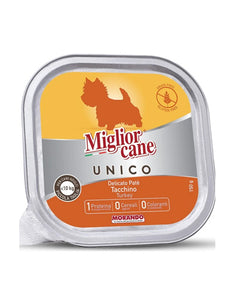 Migliorcane Unico Adult Mini Delicate Turkey Pate Wet Dog Food 150g