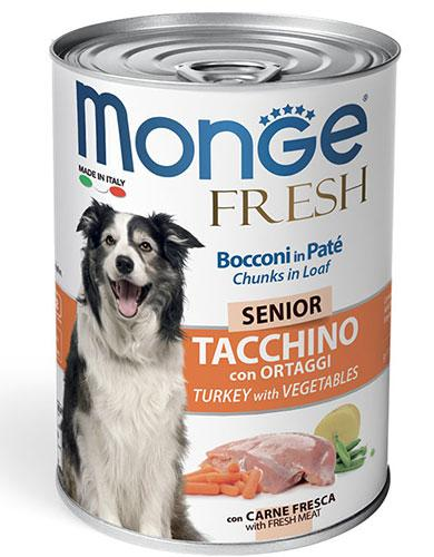 Monge Chunks in Loaf Turkey with Vegetables for Senior 400g | Waggymeal Online Pet Store Malaysia