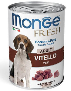 Monge Chunks in Loaf Veal with Vegetables for Adult Dogs 400g