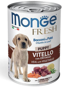 Monge Chunks in Loaf Veal with Vegetables for Puppy 400g