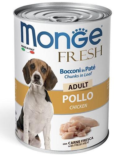 Monge Chunks in Loaf with Chicken for Adult 400g | Waggymeal Online Pet Store Malaysia