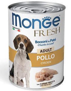 Monge Chunks in Loaf with Chicken for Adult Dogs 400g