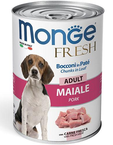 Monge Chunks in Loaf with Pork for Adult 400g | Waggymeal Online Pet Store Malaysia