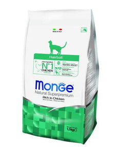 Monge Hairball Dry Cat Food (2 sizes)