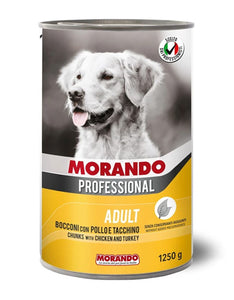 Morando Professional Adult Chunks with Chicken & Turkey Wet Dog Food 405g