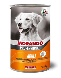Morando Professional Adult Chunks with Lamb & Rice Wet Dog Food 405g