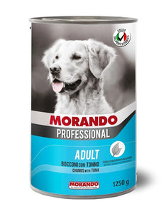 Morando Professional Adult Chunks with Tuna Wet Dog Food 405g