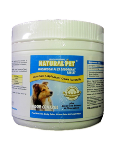 Mushroom Extract Deodorant (150 chewable tablets) | Waggymeal Online Pet Store Malaysia