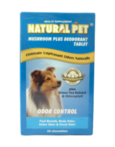 Mushroom Extract Deodorant (30 chewable tablets) | Waggymeal Online Pet Store Malaysia