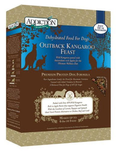 Addiction Outback Kangaroo Feast - Grain Free Raw Dehydrated Dog Food (2 Sizes)