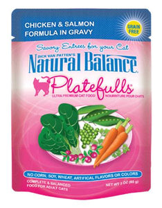 Natural Balance Platefulls Chicken & Salmon Formula in Gravy Cat Pouches 85g (3oz.)