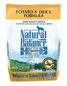 Natural Balance Potato & Duck Formula Dog Dry Food (2 Sizes)