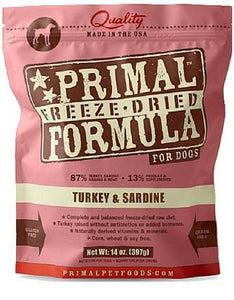 Primal Freeze Dried Canine Turkey & Sardine Nuggets ( 2 sizes )