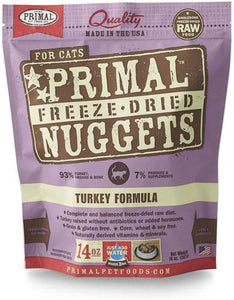 Primal Freeze Dried Feline Turkey Nuggets ( 2 sizes )