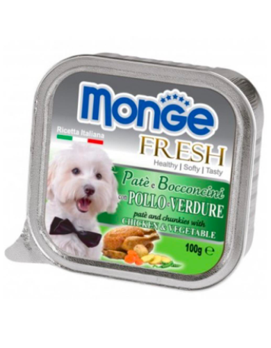 Monge Fresh Chicken & Vegetable Dog Wet Food