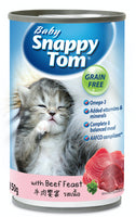 Baby Snappy Tom With Beef Feast Cat Canned Food 150g