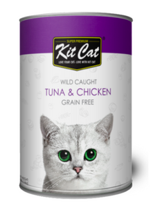 Kit Cat Super Premium Wild Caught Tuna & Chicken Grain Free 400g