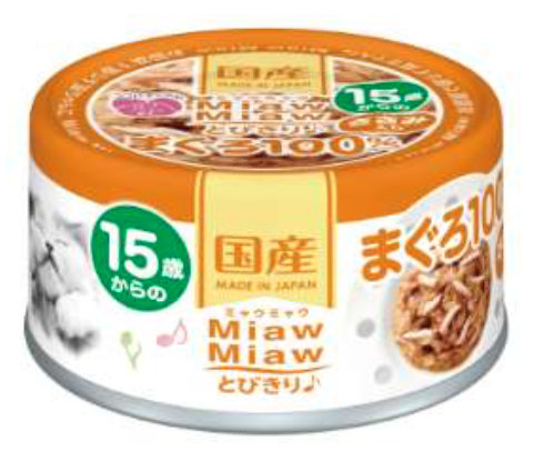 Aixia Miaw Miaw >15 yrs Tuna with Chicken Fillet Cat Wet Food 60g