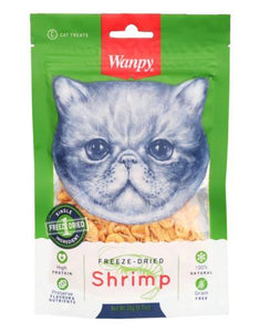 Wanpy Freeze Dried Shrimp Cat Treats 20g