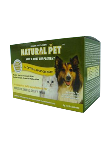 Natural Pet Skin & Coat Supplement (3g x 30 sachets) For Pets | Waggymeal Online Pet Store Malaysia