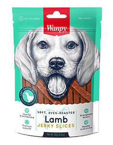 Wanpy Premium Soft, Oven Roasted Lamb Jerky Slices Dog Treats 100g