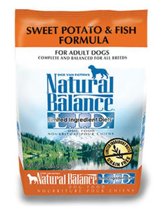 Natural Balance Sweet Potato & Fish Formula Dog Dry Food (3 Sizes)