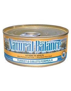 Natural Balance Turkey and Giblet Formula Cat Wet Food 170g (6oz)