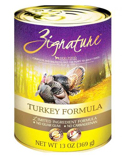 Zignature Turkey Formula Dog Canned Food | Waggymeal Online Pet Store Singapore