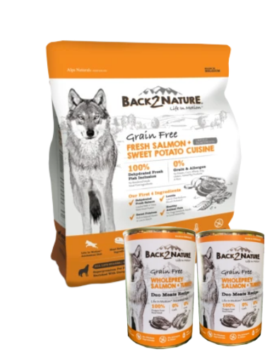 Back 2 Nature Grain Free Salmon Dry Dog Food (Free 2X Cans!)