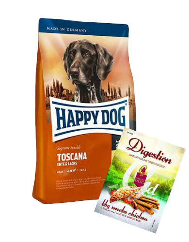 Happy Dog Supreme Toscana Dog Dry Food ( Free Treats!)