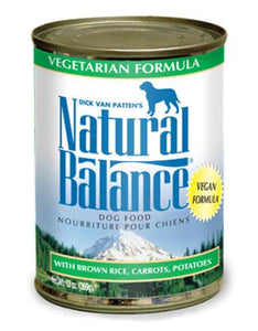 Natural Balance Vegetarian Formula Dog Wet Food 369g (13oz)