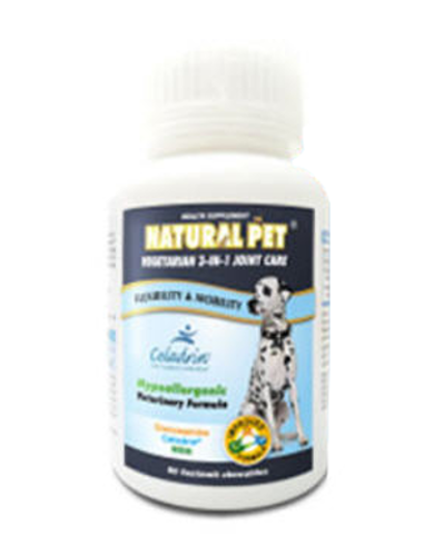 Natural Pet Vegetarian Glucosamine + Celadrin + MSM (60 Chewables Tablets) For Pets | Waggymeal Online Pet Store Malaysia