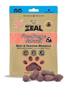 Zeal Free Range Beef & Venison Morsels Cat & Dog Treats 100gm