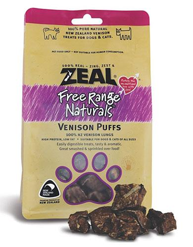 Zeal Free Range Naturals Venison Puffs Cat & Dog Treats | Waggymeal Online Pet Store Malaysia
