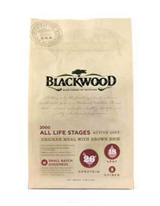Blackwood All Life Stages 2000 Active Diet Chicken Meal with Corn Dry Dog Food (4 Size)