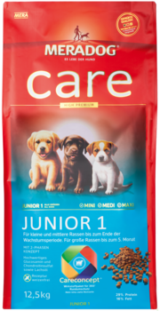 Meradog Care Puppy Food - Junior 1 - Wheat-Free Formula
